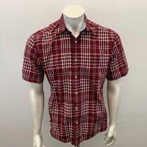 Tommy Hilfiger Red Plaid Button Up Shirt Men's Siz
